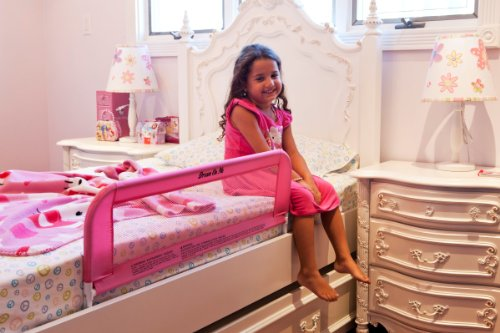 Dream On Me Mesh Security Crib Rail, Pink