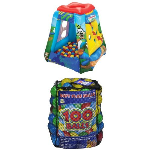 Disney Mickey Having a Ball with 100 balls in a mesh bag
