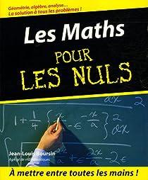 Les Maths pour les nuls par Boursin
