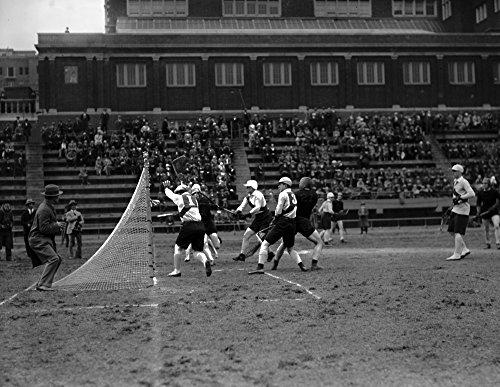 1926 Maryland vs Oxford Cambridge Lacrosse Vintage Photograph Reprint