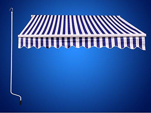 12 X10 Outdoor Patio Manual Retractable Sun Shade Canopy
