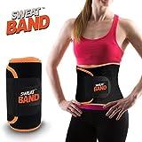Sweat Band Faja Deportiva de Sudoración para Abdomen y Cintura, Ideal para Gym, Ejercicio y Entrenamiento Cardio o Crossfit, Naranja