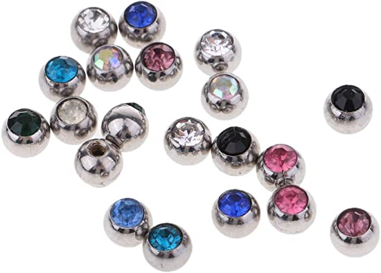 Bille de rechange pour piercing de bijoux en acier inoxydable 20 pièces