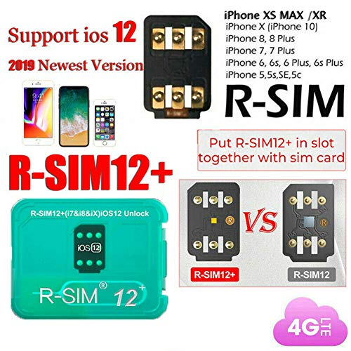 MeterMall RSIM 12+ Plus 2019 R-SIM Nano Unlock Card for iPhone X/8/7/6/6s 4G iOS 12.3