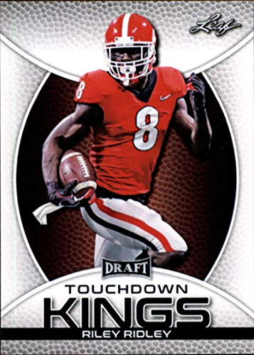 - 2019 Leaf Draft Football RC Rookie Card #83 Riley Ridley Touchdown KingsGeorgia Bulldogs