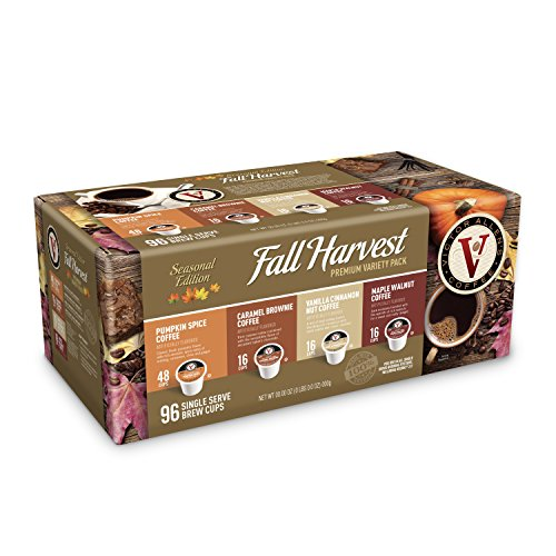 Variety Fall Harvest - Victor Allen Coffee Fall Harvest Variety Pack Single Serve 96 Count (Compatible with 2.0 Keurig Brewers)