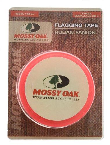 Mossy Oak Hunting Accessories Flag Tape, Pack of 3 (Orange) MO-TT3PKORG 053050~M