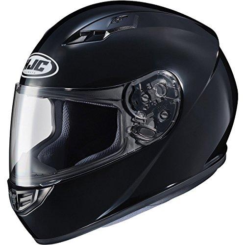 HJC Solid Adult CS-R3 Street Motorcycle Helmet - Black / Medium