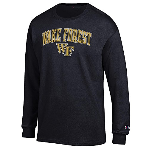 Elite Fan Shop Wake Forest Demon Deacons Long Sleeve Tshirt Varsity Black - XL