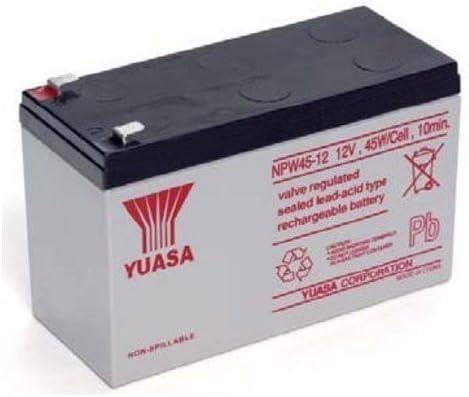 Yuasa - Batería de Plomo ácido para UPS 12 V 8.5 Ah, NPW45-12 (Faston 250 6,3 mm)