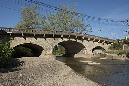16 x 24 Art Canvas Wrapped Frame Giclee Print of The 1817 Elm Grove Stone Arch Bridge Wheeling West Virginia 2015 Highsmith 04a West Elm Gallery Frame