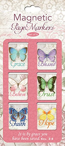 Bookmark - Pagemarker - Magnetic - Butterfly Blessings - Small - Set Of 6
