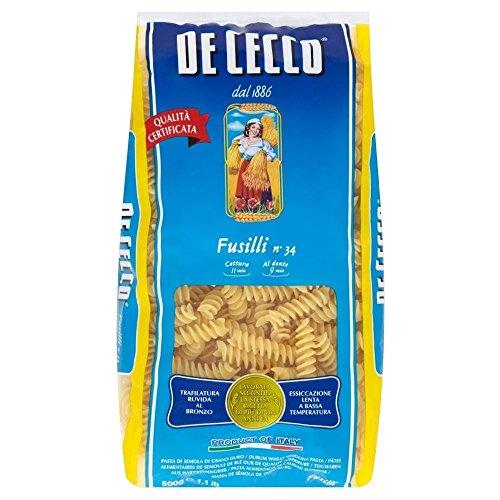 De Cecco Fusilli (500g) - Pack of 2 by De Cecco