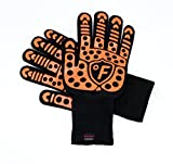 FahrenShield - High Performance 932 °F Premium EXTREME Heat resistant, Cut Resistant, Slip Resistant, Forearm Protection, Indoor Outdoor gloves for BBQ, Grilling, Baking, Cooking, Fireplace, Camping