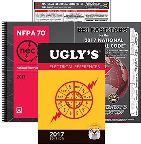 NFPA 70 2017: National Electrical Code (NEC) Spiralbound, Fast Tabs, Quick Card and Ugly's Electrical References, 2017 Editions, Package by NEC