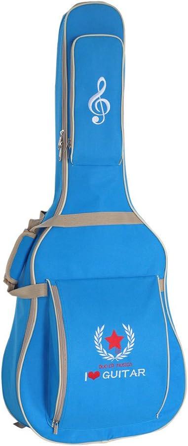 Andoer Bolsa de Guitarra 600D Resistente al Agua Paño Oxford 10mm de Esponja de Algodón Acolchado Correas de Hombro Bolsillos Estuche para Guitarra Clásica Acústica Clásica de 41 Pulgadas