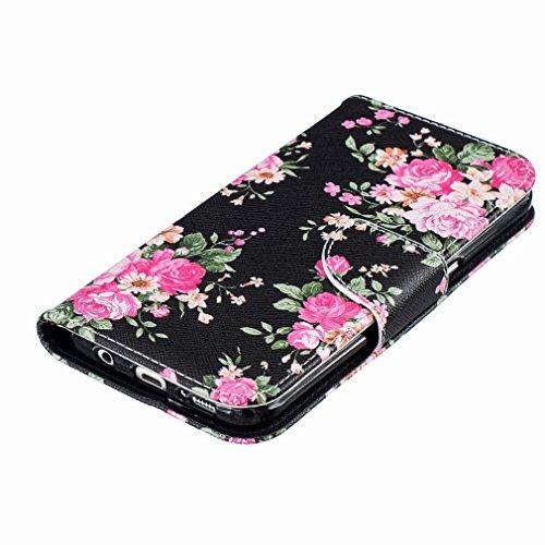 Yiizy Samsung Galaxy S7 Edge G935 Custodia Cover, Rose Design Sottile Flip Portafoglio PU Pelle Cuoio Copertura Shell Case Slot Schede Cavalletto Stile Libro Bumper Protettivo Borsa