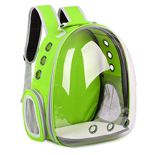 Stroller Green Bubbles - Lvyuanda Breathable Pet Travel Backpack Space Capsule Carrier Bag Hiking Bubble Backpack for Cat & Dog (Light Green)