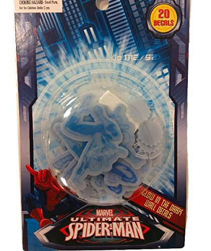 Marvel Spiderman Glow in the Dark Wall Decals 20 Pcs