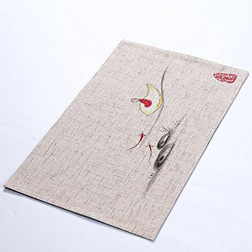 QWERWHH Trinken Schale Matratze Schüssel Mat Anti Wärmedämmung Mat Geschirr Mat 50 * 30 cm, F