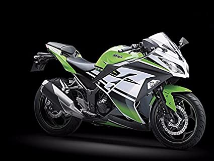 Amazoncom Black Green White Complete Fairing Injection For