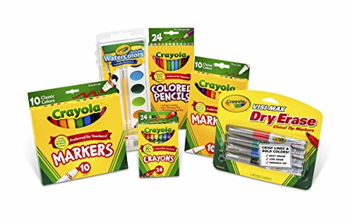 Crayola Back to School Supplies Set, Art Supplies, Grades 3, 4, -