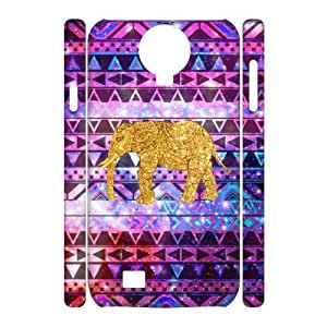 QSWHXN Cell phone Cases Elephant Aztec Tribal Hard 3D Case For Samsung Galaxy S4 i9500