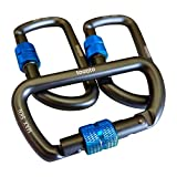 tounto 3 Pack D Ring Small Aircraft Aluminum