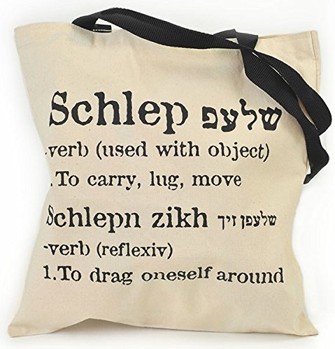 The ORIGINAL Schlep Tote Bag, Yiddish - carry, Israeli Gifts Jewish Gifts Made in Jerusalem