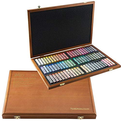 (Mungyo Gallery Soft Pastel Squares Wood Box Set of 72 - Assorted Colors)