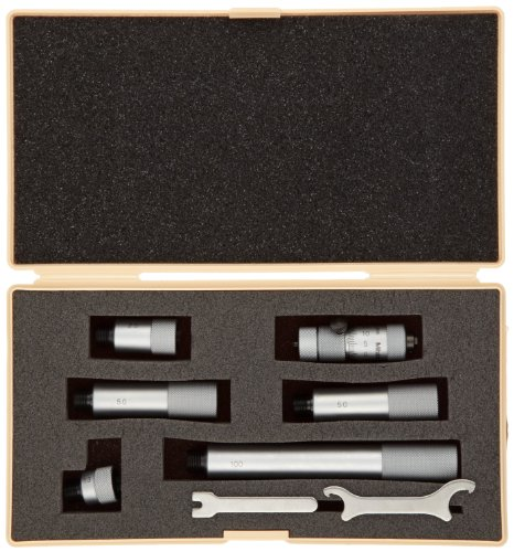 Mitutoyo 137-212 Tubular Vernier Inside Micrometer Extension Rod Type 5 pcs Extension Rods 0.001 Graduation 2-12 Range +//-5.00036 Accuracy