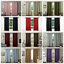 FirstHomer Solid Color Blackout Curtains Room Darkening Curtains Antique Bronze Grommet Curtains Insulated Curtains for Living Room Olive 52Wx72L Inch