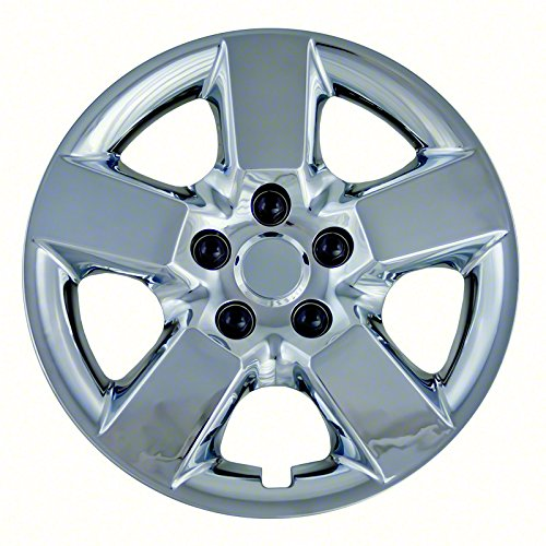 Aftermarket Wheel Covers; 16 Inch; Chrome Finish; Abs; 5 Spoke;