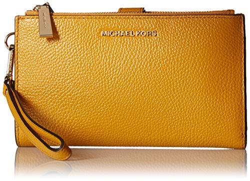MICHAEL Michael Kors Adele Leather Smartphone Wristlet (Marigold)