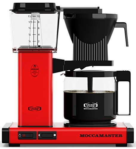 Aluminum Drip Coffee Maker - Technivorm Moccamaster 59636 Coffee Brewer Red 40 oz