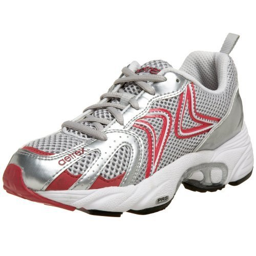Aetrex Women's Z589W Zoom Runner Running Shoe,Silver/Cranberry,11 M US by Aetrex