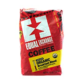 Whole Bean Organic Coffee Breakfast Blend Equal Exchange 12 oz Bag 8 Equal Exchange Breakfast Blend Whole Bean Coffee (6x12 Oz)