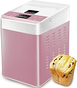 Fully Automatic Bread Maker, Automatic Nut/Yeast Dispenser, 25 Programmable Menu Settings, 1.65 Lb Capacity, 13 Hour Delay Timer, 1 Hour Warmer