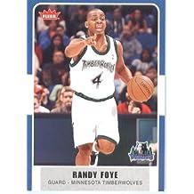 2007 /08 Fleer NBA Basketball Card # 127 Randy Foye Timberwolves Mint Condition