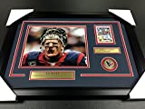 J.J. WATT AUTOGRAPHED CARD AUTO FRAMED 8X10 PHOTO HOUSTON TEXANS BLOOD