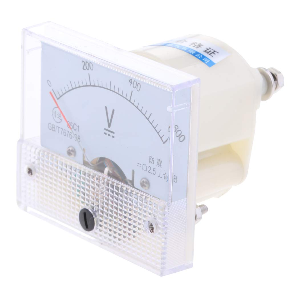 0-250 V Sharplace Amperem/ètre Analogique Voltm/ètre Jauge Panneau Compteur Testeur Amp Metres Manom/ètre
