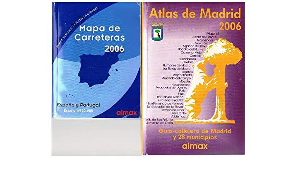 Atlas de Madrid 2006 + 1 mapa de carreteras de España y Portugal: Amazon.es: Libros