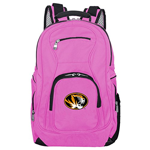 NCAA Missouri Tigers Voyager Laptop Backpack, 19-inches, Pink