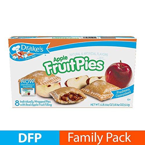 Apple Fruit Pies (Drake's Fruit Pies (Apple) 17. 19 oz, 8 Ct)