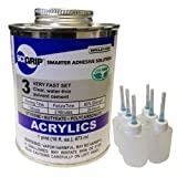 Weld-On 3 Acrylic Adhesive - Pint and 6 Pack of Weld-On Applicator Bottle with Needle