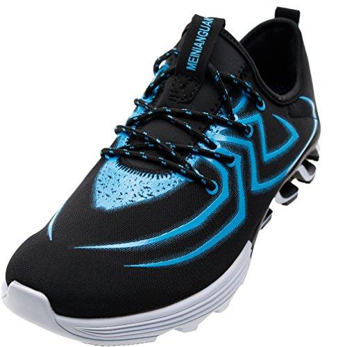Mode Pour Hommes Joomra Les Chaussures De Course 39-45 Avec 20 Couleurs 803 Bleu Noir