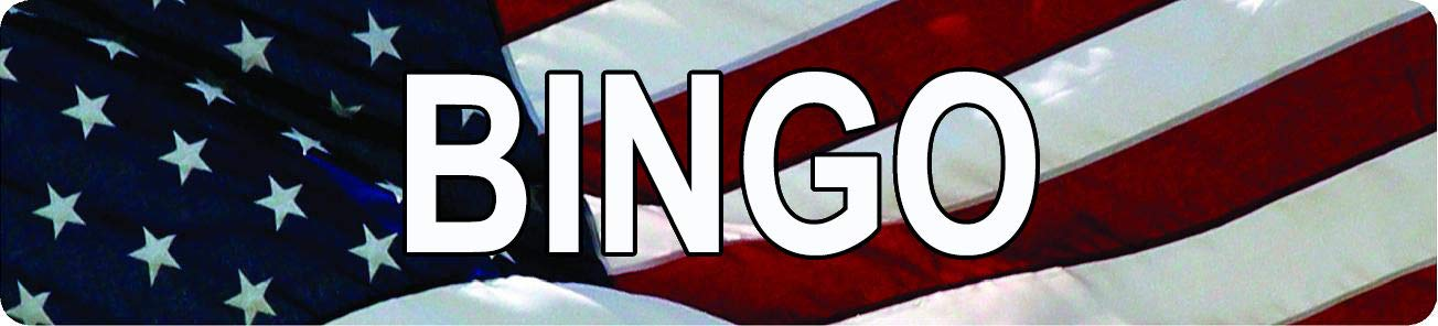 Any and All Graphics Bingo American Flag Design Patriotic 4''x18'' Aluminum Novelty Street Sign