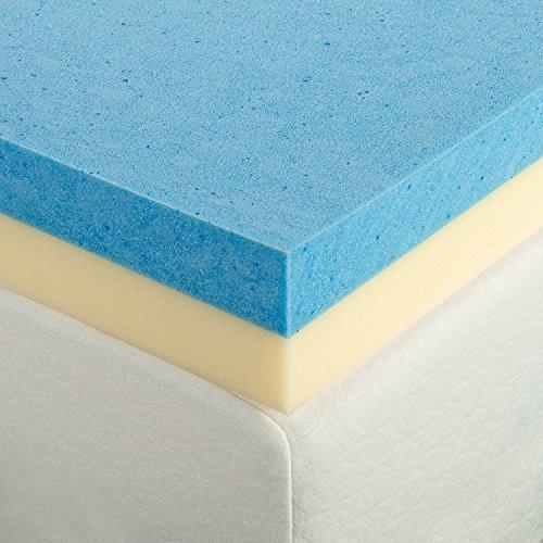 Zinus 4 Inch Gel Memory Foam Mattress Topper, Queen
