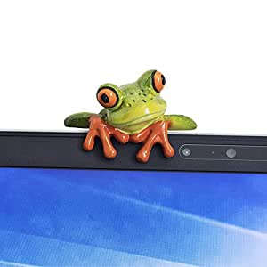 YOHEE Resin Creative 3D Craft Frog Decoration Office Desk Computer Decoration Gift (Front Style)