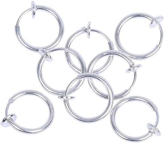 Sodial R 8 Cerchi Clip Da Naso Labbra Orecchini Piercing Finti Amazon It Gioielli